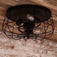 Ceiling Mount Cage Light Fixture